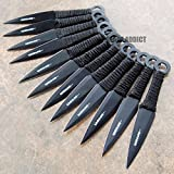 New 12 Pc 6'' Ninja Tactical Combat Naruto Kunai Throwing EcoGift Nice Knife with Sharp Blade Set Hunting w/ Sheath- Great For Fun And Practical Use