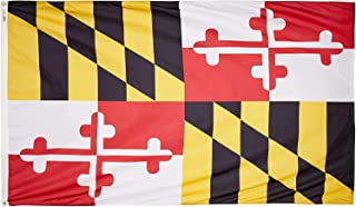 product image for Annin Flagmakers Model 142380 Maryland Flag Nylon SolarGuard NYL-Glo, 5x8 ft, 100% Made in USA to Official State Design Specifications