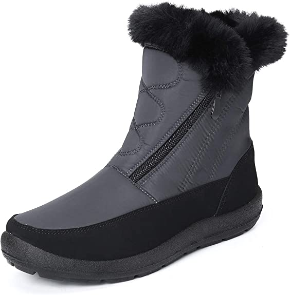 Botines De Mujer Zapatos de Plataforma Botas Invierno Calzado para Nieve Agua