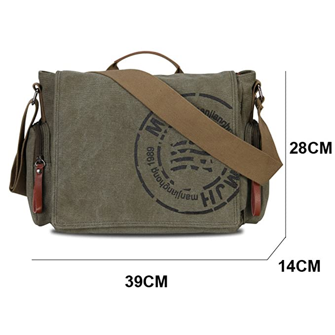 8f082d54198d Amazon.com: Zeroral Men's Messenger Bags Canvas Shoulder Business ...