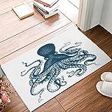 ALAGO Octopus Steampunk Doormats Entrance Front Door Rug Outdoors/Indoor/Bathroom/Kitchen/Bedroom/Entryway Floor Mats,Non-Slip Rubber,Low-Profile