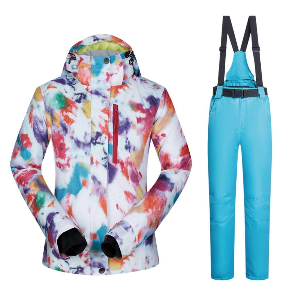 Dhrfyktu Snowsuit da Donna Donna da Winter Giacca da Sci e Pantaloni Set Antivento e Impermeabile (Coloree   02, Dimensione   M)B07KWCSVMYM 01 bb5513