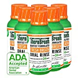 TheraBreath – Fresh Breath Oral Rinse – Dentist Formulated – Stops Bad Breath – No Artificial Flavors – Gluten Free – Certified Kosher – Mild Mint Flavor – 3 Ounce – Six-Pack