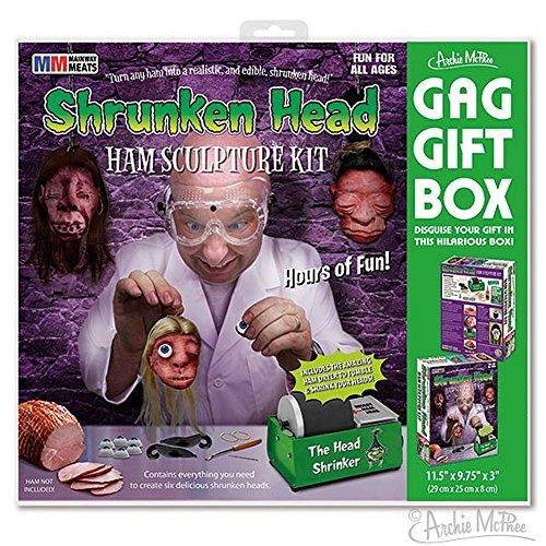 Shrunken Head Kit Joke Novelty GIFT BOX