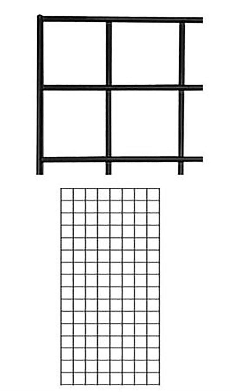 2' X 4' Wire Grid Panel - Black