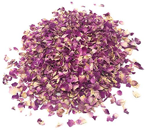 Naturegrail Pink Rose Petals - Pure, Edible & Organic - Net Weight: 0.35oz/10g - Perfect Addition To Salads, Snacks Or Smoothie Bowls, DIY Body Care Products, Sprinkles For Bath/Decoration