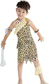 NiQiShangMao Halloween Niños Leopardo Salvaje Hombre de Las ...