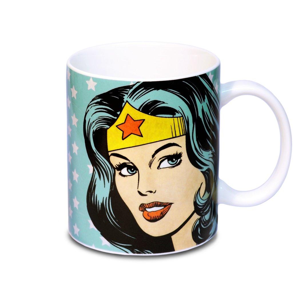 DC Comics LOGOSHIRT design original sous licence pr/ésent/é dans un coffret cadeau Wonder Woman Portrait mug de caf/é