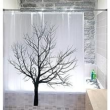 Tatkraft Tree PEVA Shower Curtain 180X180 cm Waterproof