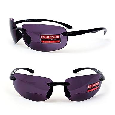 d04c15d7e2 Bifocal Sunglasses Sports Rimless Light Men Women Sun Readers 150-300  (Black