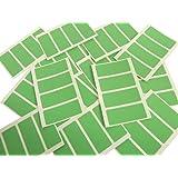Minilabel - Etiquetas adhesivas rectangulares (50 x 20 mm, 80 unidades), color verde