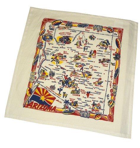 State Dish Towel - The Red & White Kitchen Co. Arizona State Souvenir Dish Towel