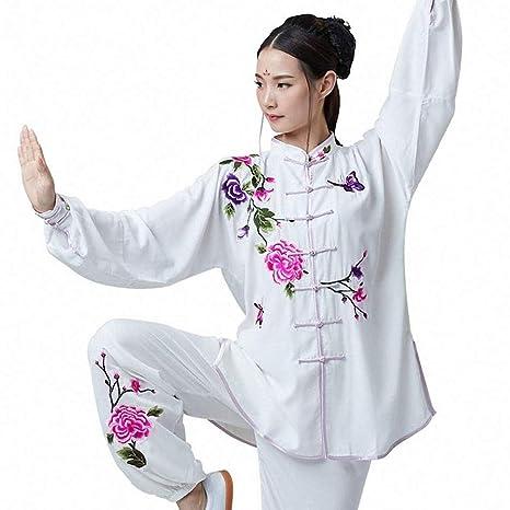 XGYUII Traje de Tai Chi para Mujer Traje de algodón Bordado ...