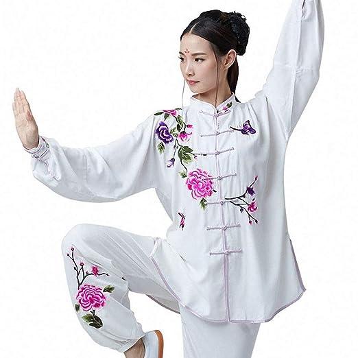 XGYUII Traje de Tai Chi para Mujer Traje de algodón Bordado y Seda ...