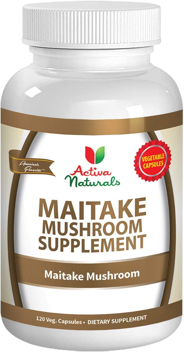 Maitake Mushroom Supplement – 120 Veg. Capsules with Grifola Frondosa Mushrooms