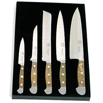 Güde 5-E000 - Set de 5 cuchillos forjados alpha roble ...