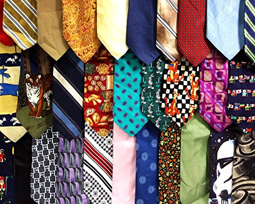 Men's Silk and Polyester Neckties for Crafts or Quilting