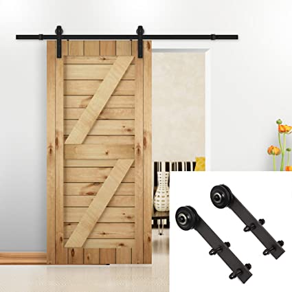 U MAX 6.6 Ft Sliding Barn Door Hardware Kit Antique Style