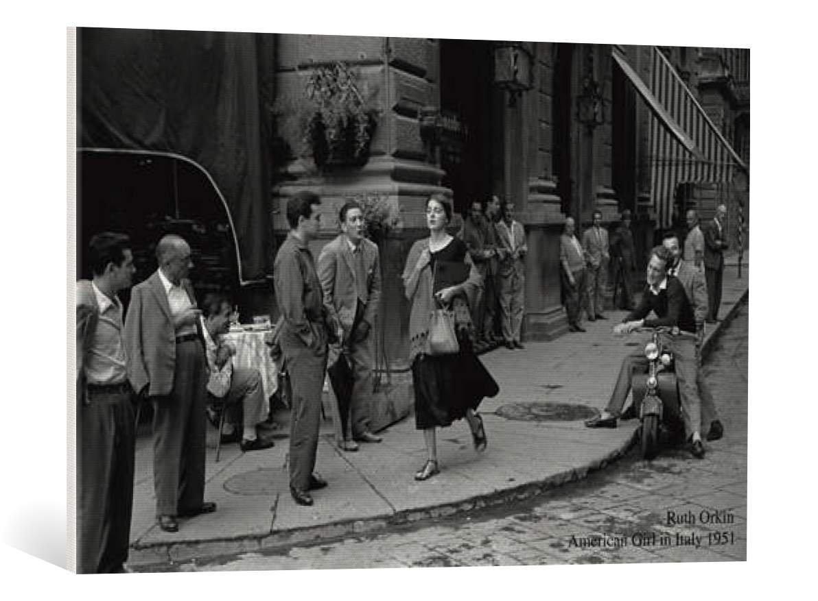 Kunst für alle Leinwandbild  Ruth Orkin American Girl in  - hochwertiger Druck, Leinwand auf Keilrahmen, Bild fertig zum Aufhängen, 90x60 cm