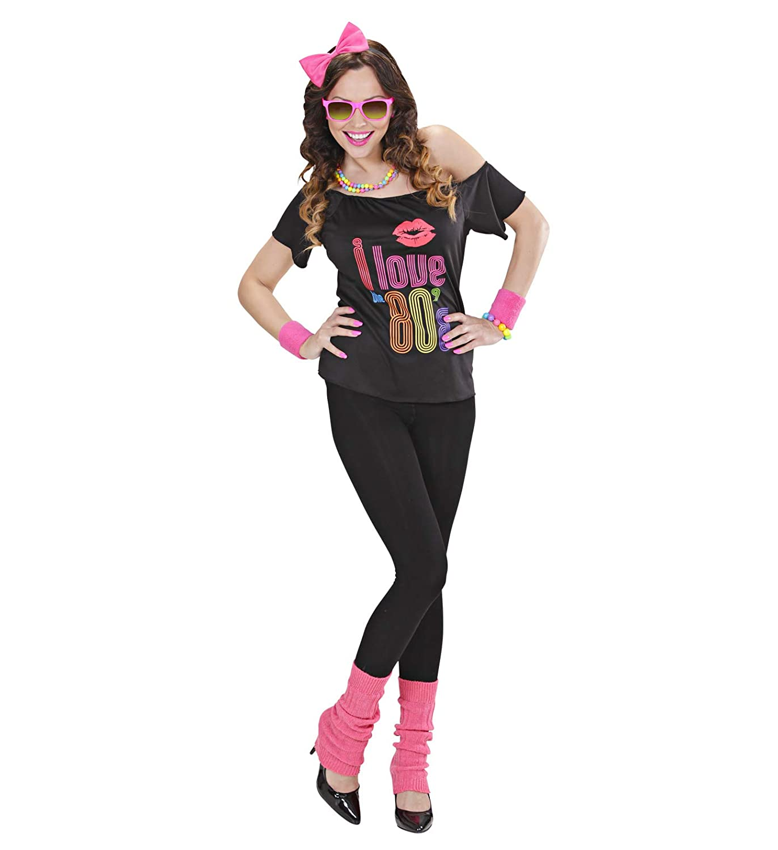 Disfraz para Mujer de los años 80 de Partypack, Talla 36 a 40 ...