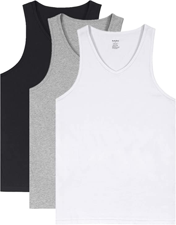 Bigdale Cuello Redondo Opaco Sin Mangas para Hombre Camiseta Interior