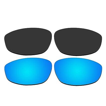 Amazon.com: anteojos de sol polarizadas Negro y hielo azul ...