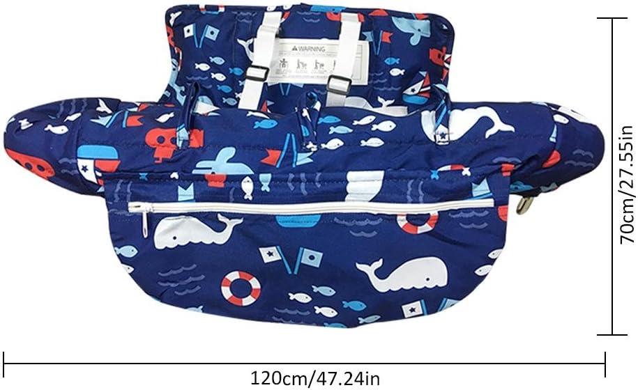 Sitzverkleinerer Kindersitz waschbar Sitzbezug f/ür Baby Hochstuhl-auflage Einkaufswagenschutz mit Haltegurt Baby Einkaufswagen Abdeckung Universal 2-in-1Kleinkind Hochstuhl und Warenkorb Kissen