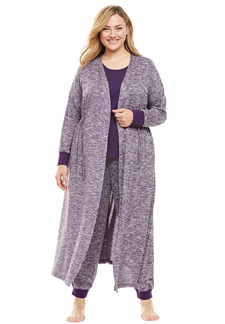 Dreams & Co. Women's Plus Size Long Duster Robe