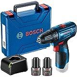 Parafusadeira Furadeira Bosch GSR 120-LI 12V com 2 baterias, 1 carregador e maleta