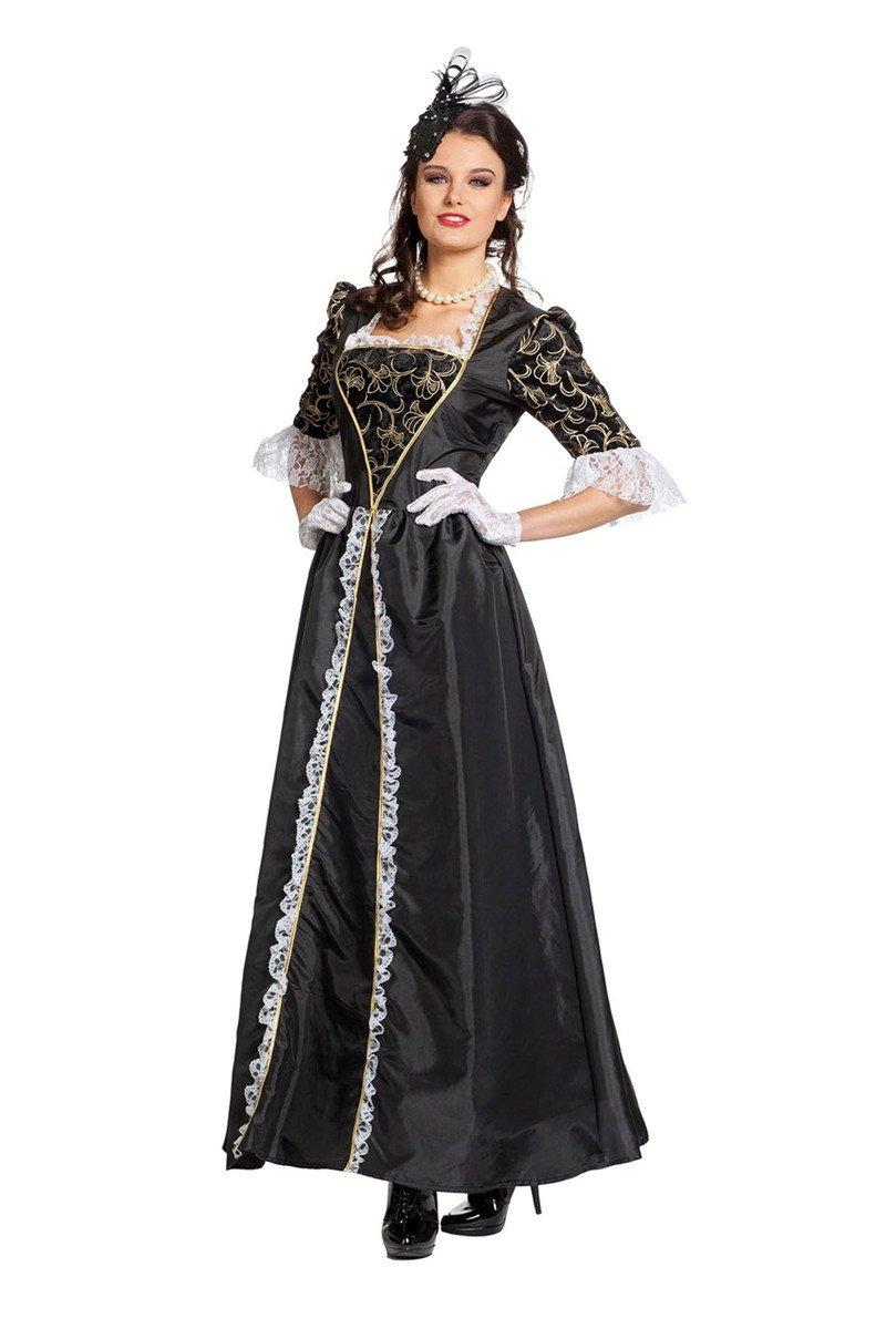 Marquise schwarz Barockkostüm Mittelalterkostüm Karnevalkostüm