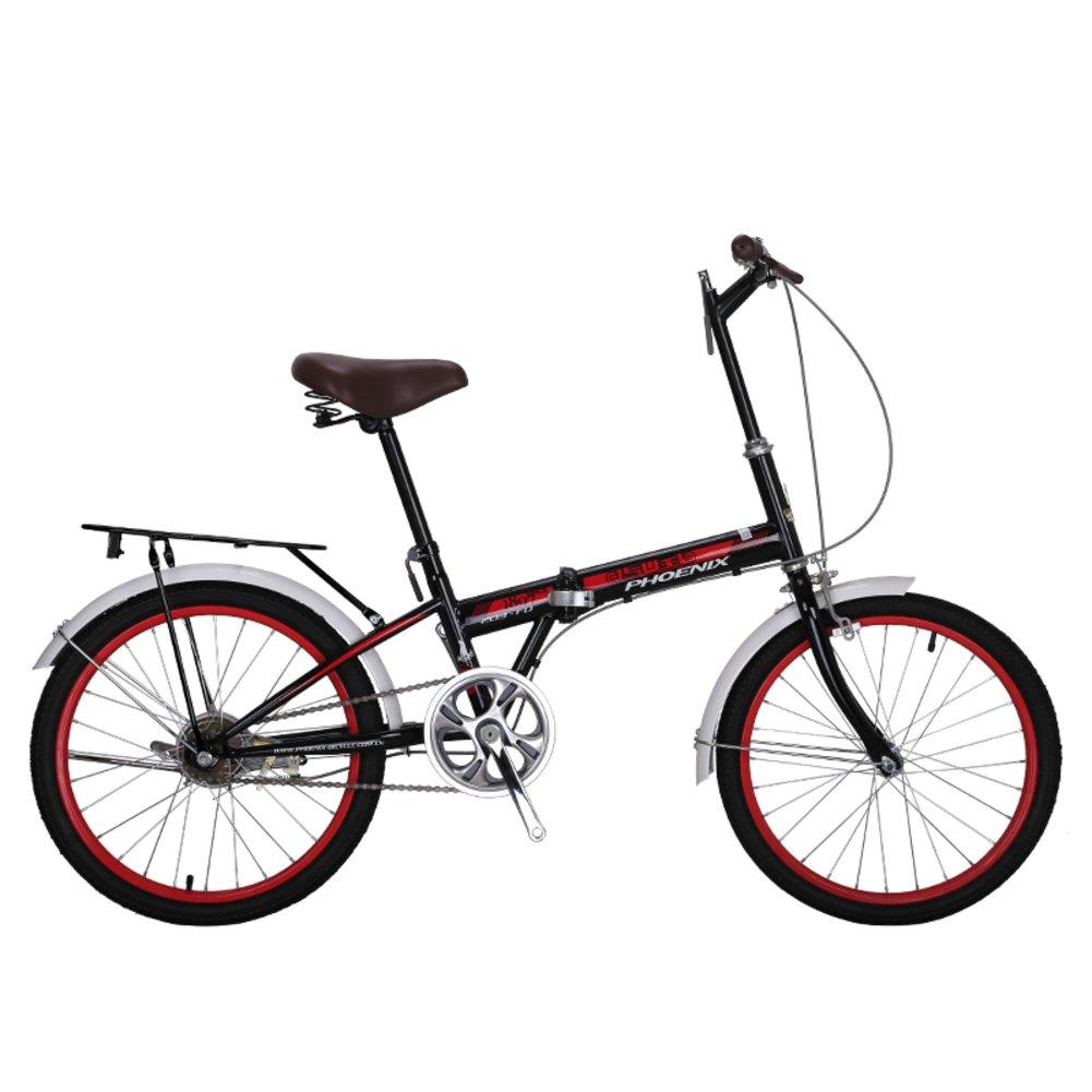 YEARLY Bicicleta plegable mujer, Adultos bicicleta plegable De una sola velocidad Ciudad Estudiante Bicicletas de hombres y mujeres Bicicleta ...