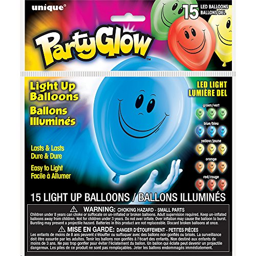 Latex Happy Light Balloons Assorted