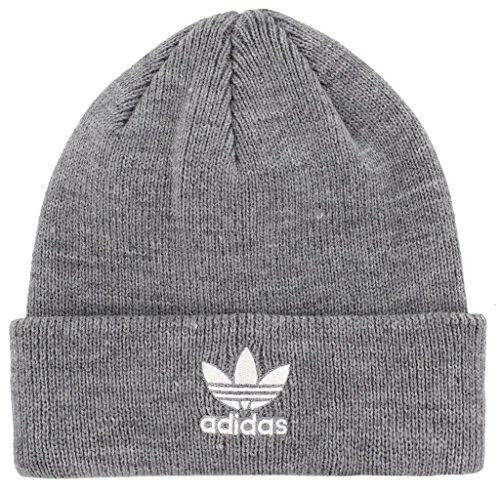 - adidas Boys / Youth Originals Trefoil Beanie, Heathered Grey/White, One Size