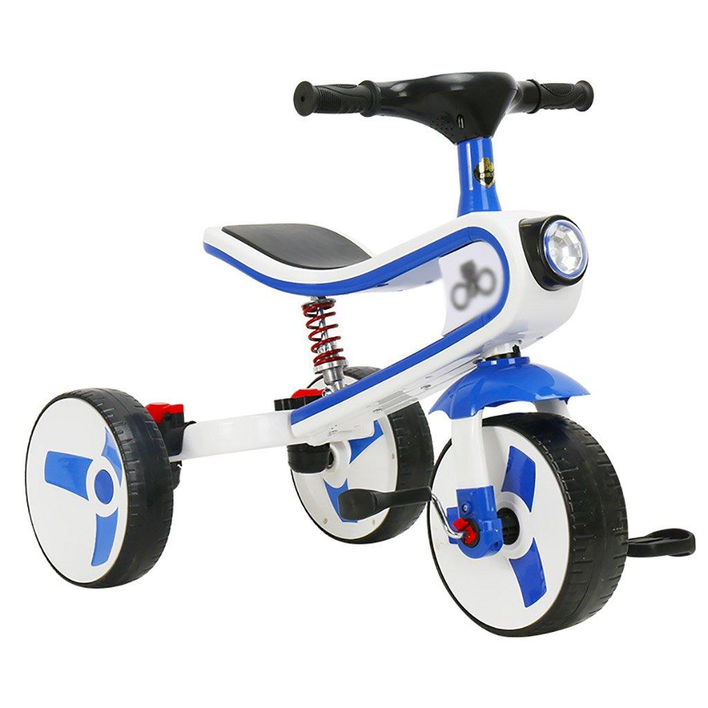 子供用トライク、三輪車の乗り物バイク、赤ちゃんの滑り自転車、おもちゃの自転車、自転車の子供、フットペダルの3つの車輪 (色 : A) B07DVK7P8Y A A
