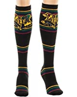 Harry Potter Hogwarts Crest Black Knee High Socks Costume Accessory