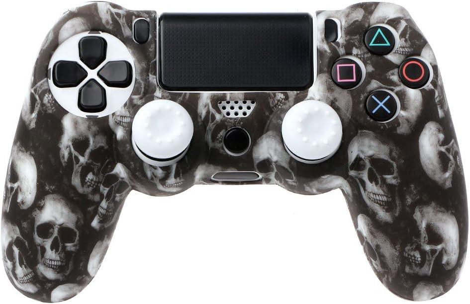 Siwetg Skull - Funda de silicona para mando PS4 Pro Slim
