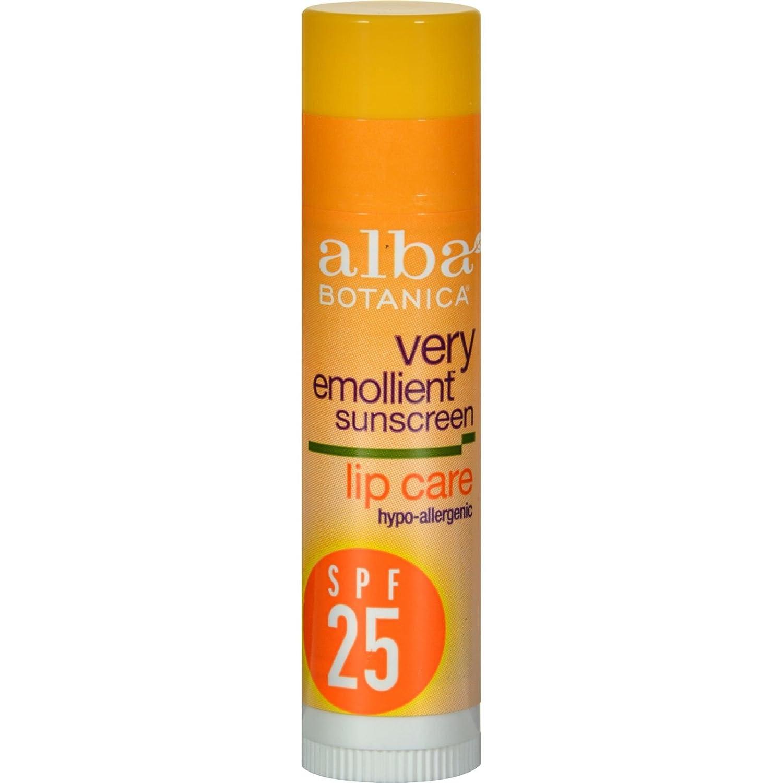 Alba Botanica Moisturizing Sunscreen Lip Balm Spf 25 0.15 oz 401406
