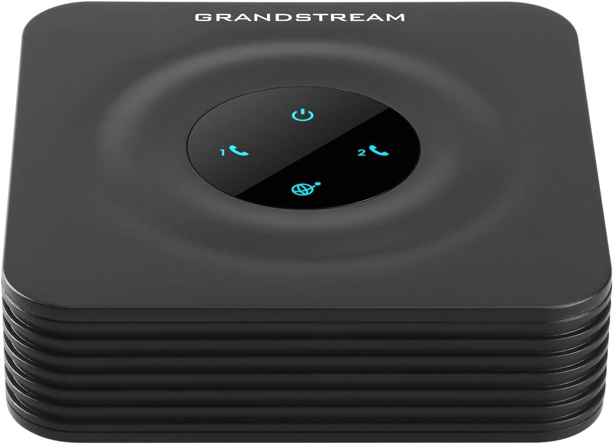 Grandstream GS-HT802 2 Port Analog Telephone Adapter VoIP Phone & Device, Black