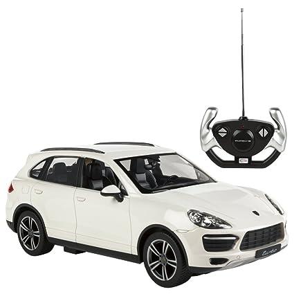 RASTAR - Coche teledirigido 1:14, Porsche Cayenne Turbo Blanco (ColorBaby 85015)