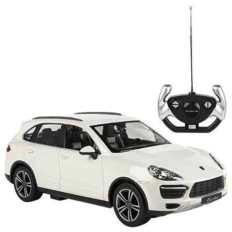 Rastar - Porsche Cayenne Turbo, coche teledirigido, escala 1:14, color blanco