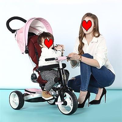 QLL-Des vélos pour enfants Sport en plein air Enfants Chariots de tricycle Chariots de bébé Bicyclettes pour enfants 3 roues, pliable Sans danger pour les enfants