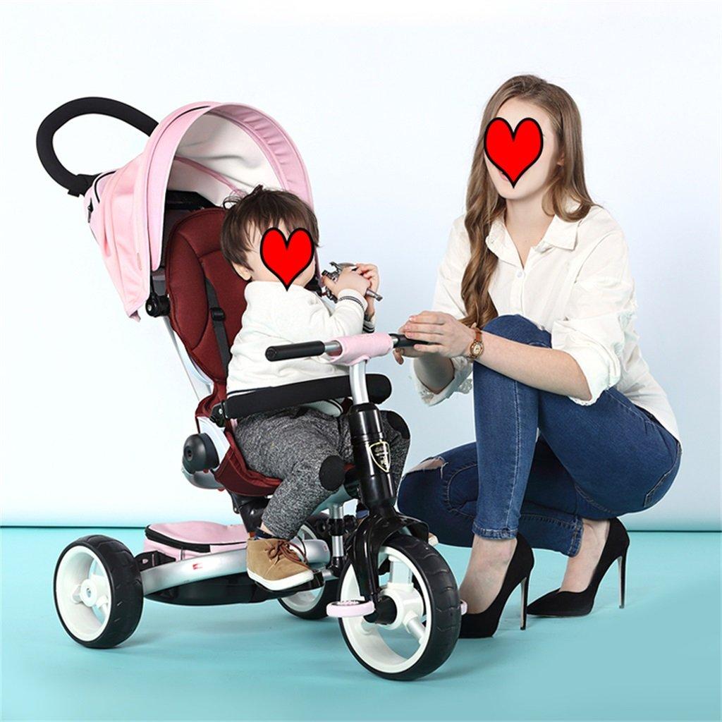 KANGR-子ども用自転車 子供用三輪車カートベビーキャリッジ子供用自転車3輪、折り畳み式 ( 色 : ピンク ぴんく ) B07BTMJB9R ピンク ぴんく ピンク ぴんく
