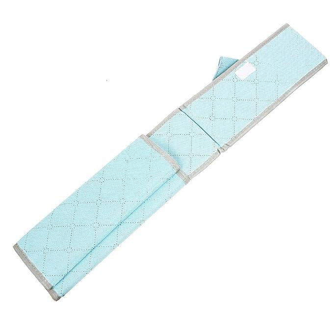 Amazon.com : La ropa Interior de carbón de bambú Organizador Caja de almacenamiento 7 compartimentos Azul : Office Products