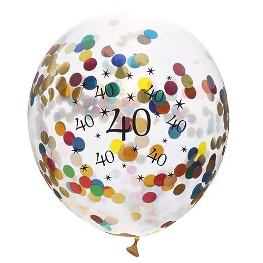 GVJBFC Colorido 80 70 60 50 40 30 Aniversario Globo Confeti ...
