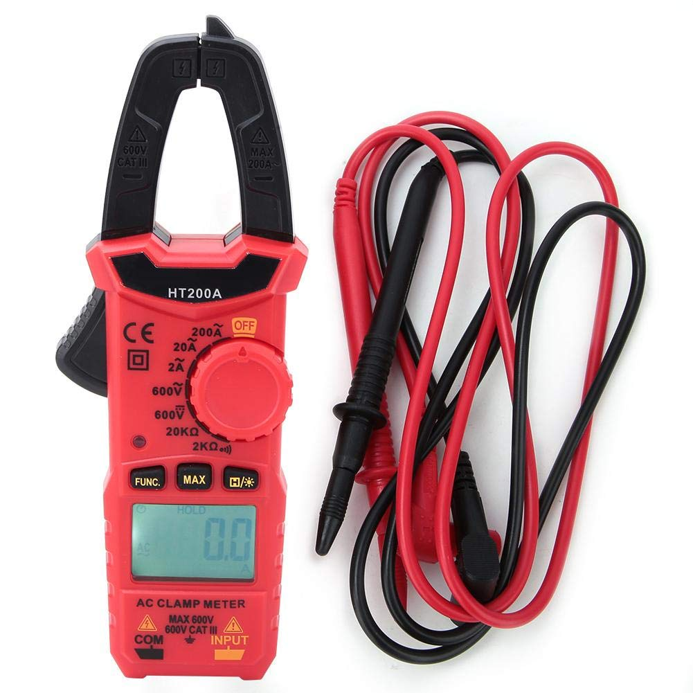 HT200A Outil de mesure du courant de tension de pince amp/èrem/étrique /à CA num/érique miniature