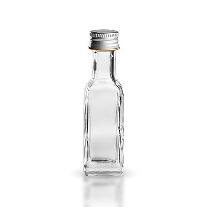 Botellas de vidrio cuadradas