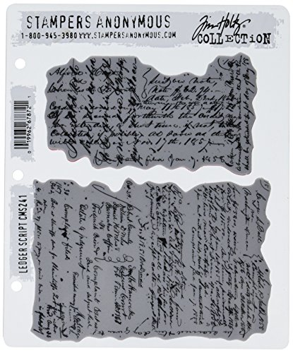 (Stampers Anonymous Tim Holtz Cling Rubber Stamp Set, 7