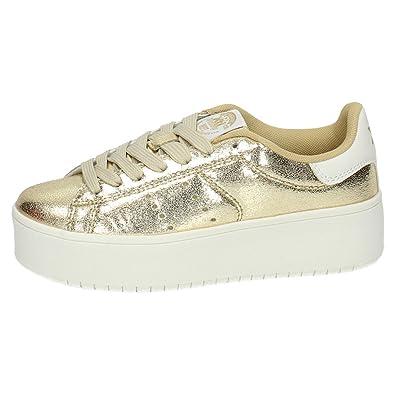 Nouvelles Arrivées cb129 3b0ab Xti , Chaussures de Fitness pour Femme - Or - Or, 40 EU ...