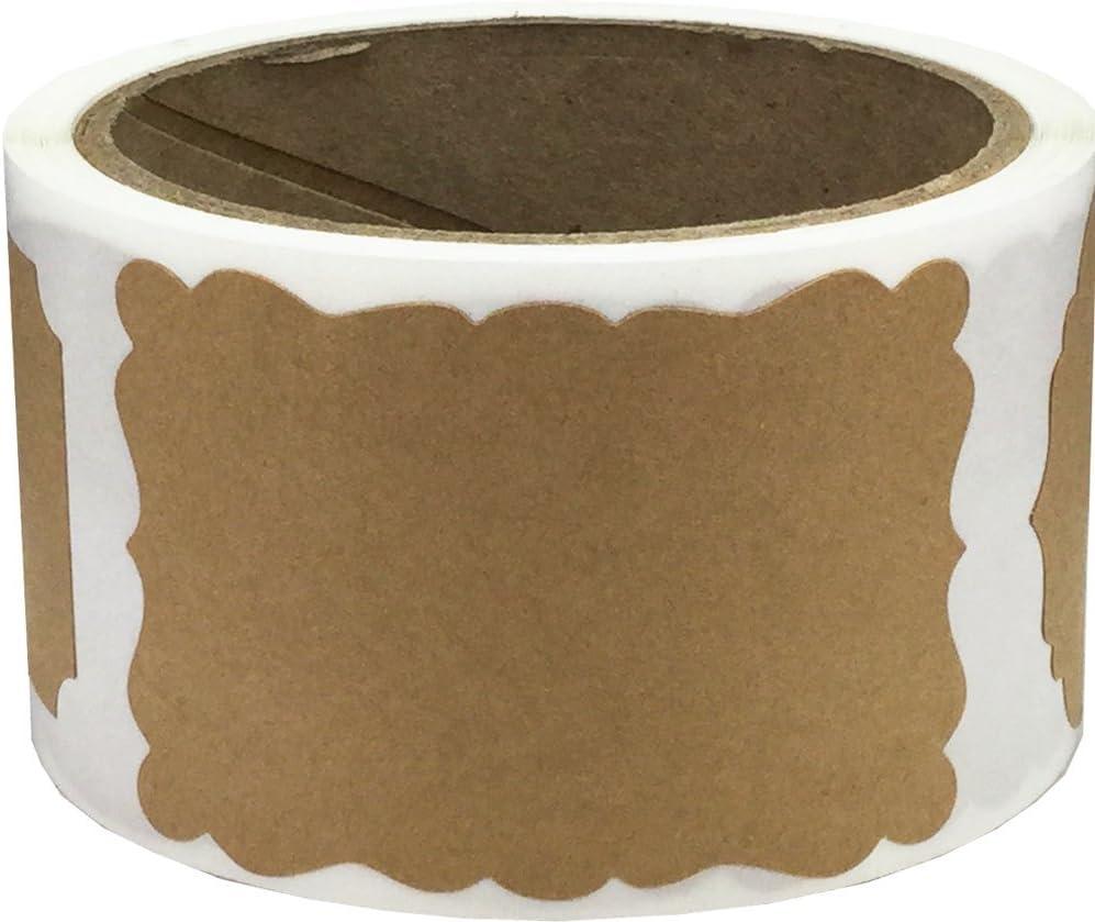 Kraft Natural Marrón Etiquetas de Regalo, 51 x 76 mm 2 x 3 Pulgadas Etiquetas de Regalos 100 Paquete