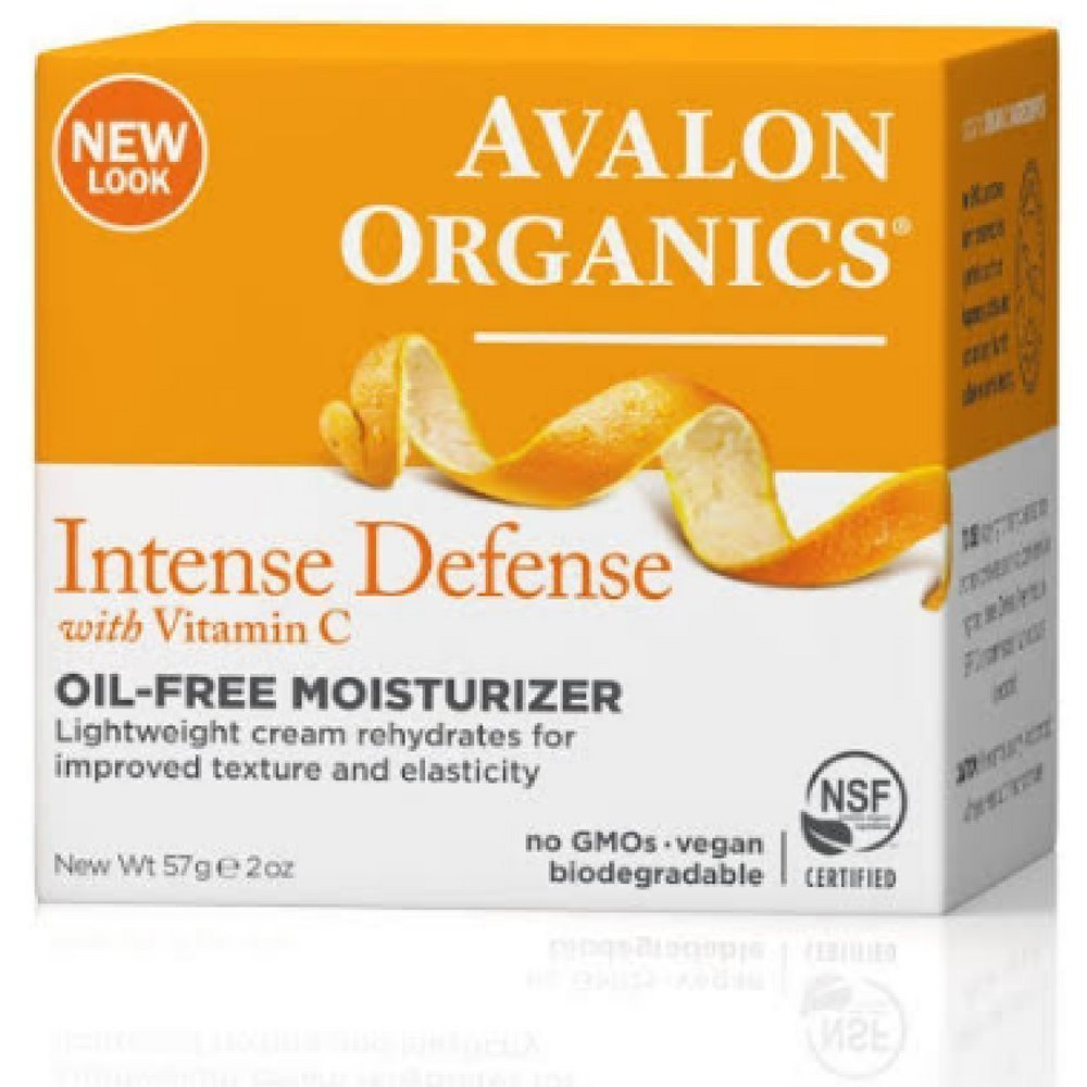 Avalon Organics Intense Defense with Vitamin C, Oil-Free Moisturizer 2 oz Pack of 5